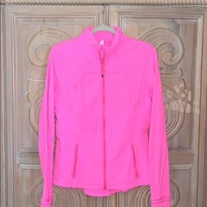 Lululemon neon zip up jacket